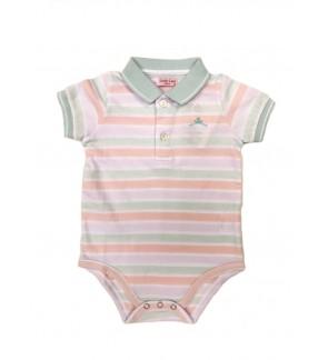 Baby Boy Short Sleeve Polo Romper