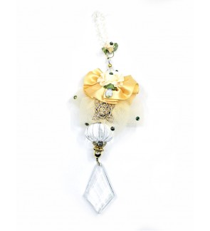 LL Crystal Mobile Hanging-Cream/Gold