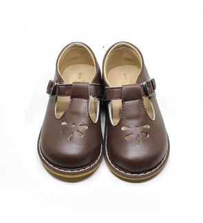 Girl Brown Shoes Size 21-28