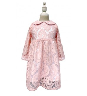 Toddler Long Sleeve Lace Dress (1-5 Years Old)