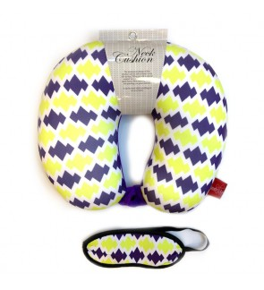 Neck Pillow with Matched Eyemask - Purple